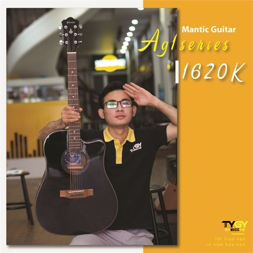Đàn Guitar Acoustic Mantic AG1C-BK